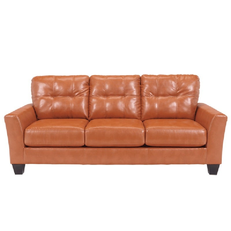 Paulie Bonded Leather Sofa | Weekends Only Furniture and Mattress