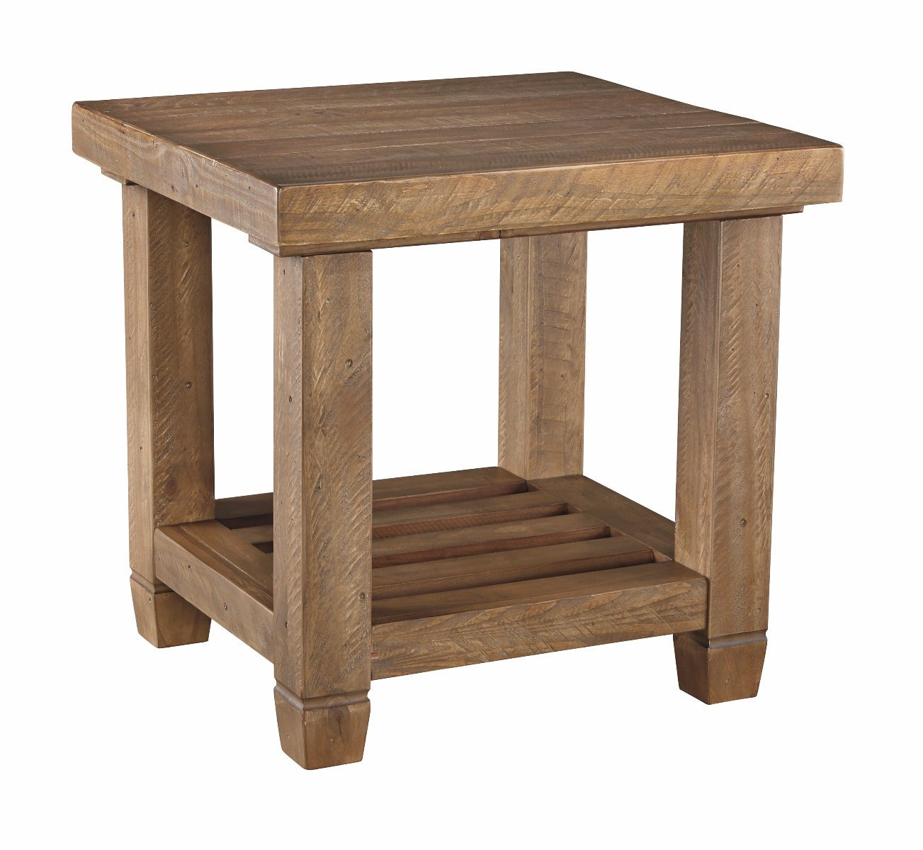 Ashley Trishley Light Brown Solid Wood End Table