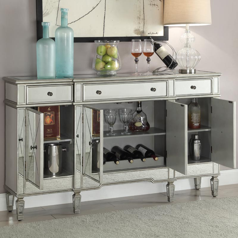Bailey Mirrored Wine Cabinet | Weekends Only Furniture and Mattress