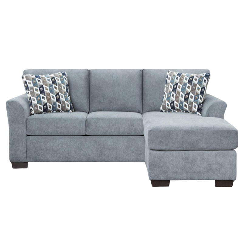Anna Blue Microfiber Sofa Chaise | Weekends Only Furniture