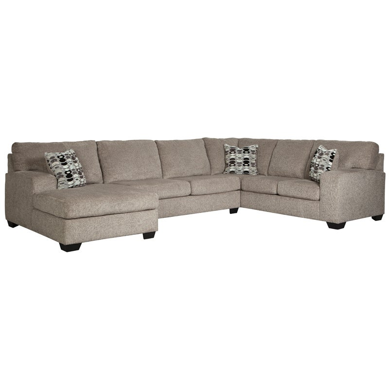 Ashley Ballina Platinum Chenille Sectional | Weekends Only Furniture & Mattress