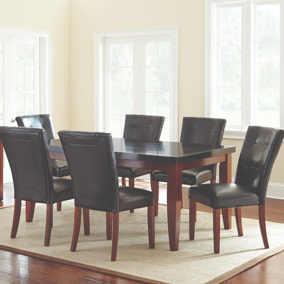 Bello 7 Pc Granite Dining Set | Weekends Only Furniture & Mattress