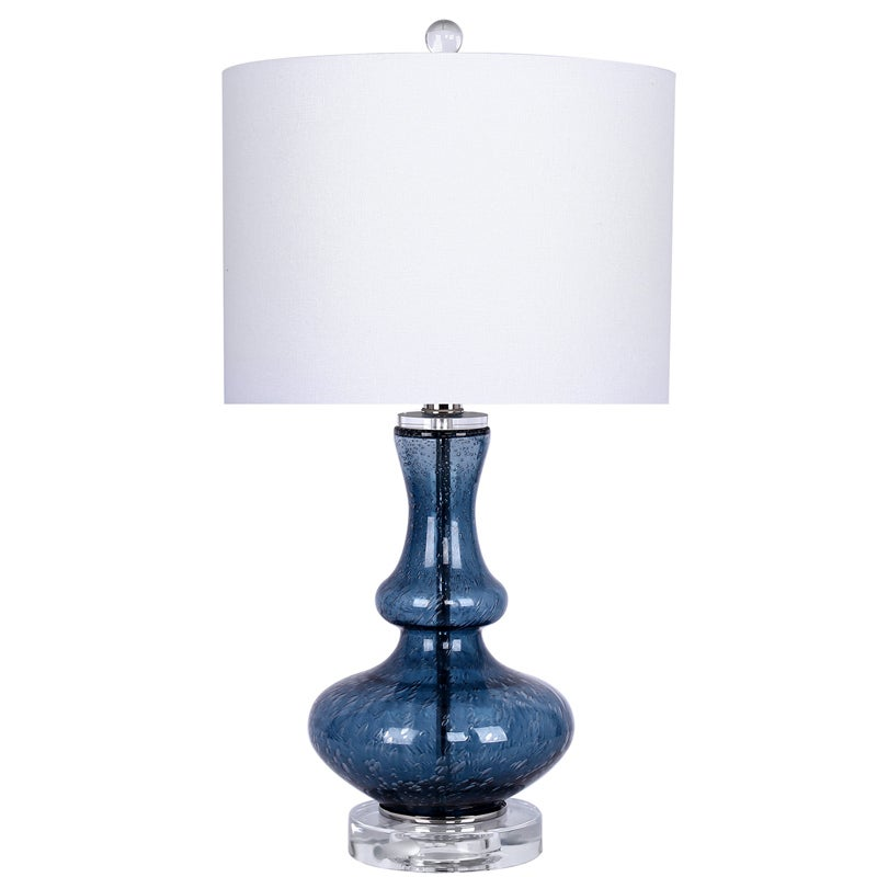 Seeded Blue Table Lamp | Weekends Only Furniture & Mattress