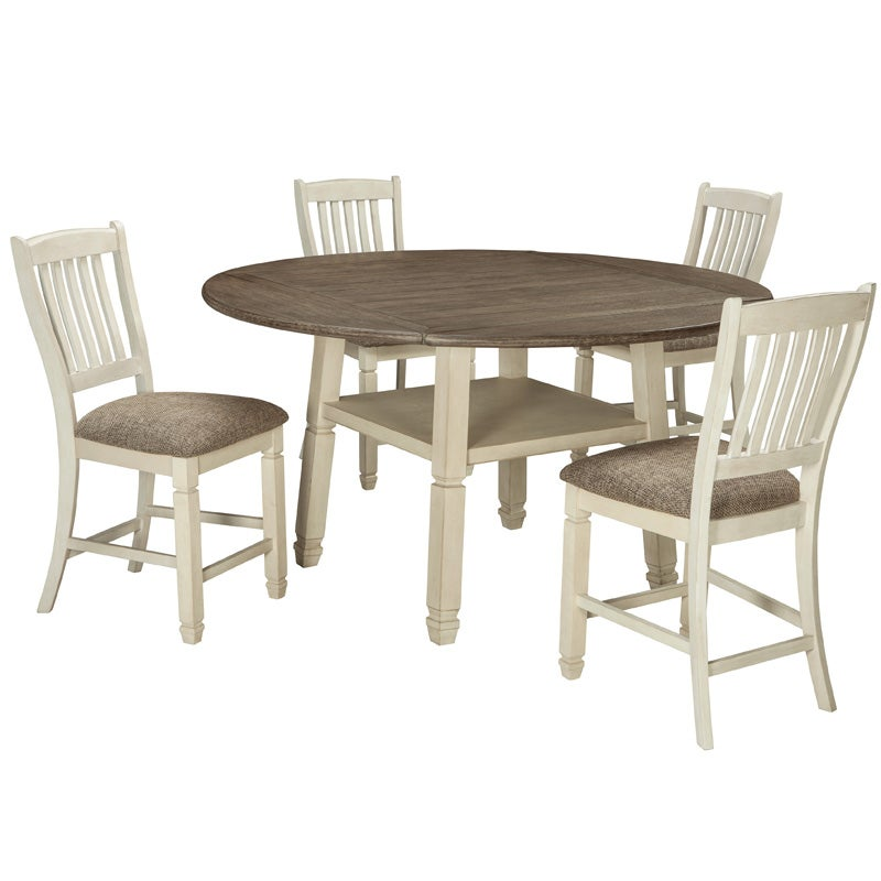 Bolanburg 5 Pc Round Drop Leaf Dining Set | Weekends Only Furniture & Mattress