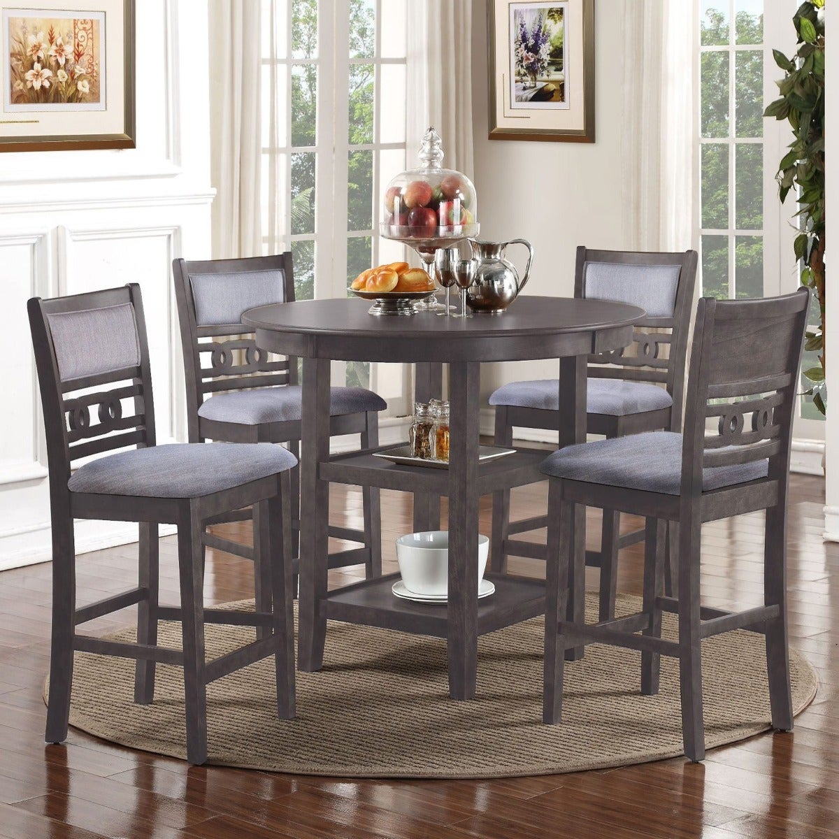 Gina 5 Piece Counter Height Dining Set | Weekends Only Furniture & Mattress