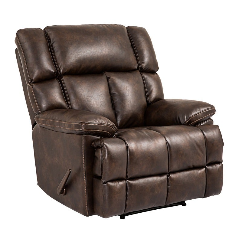 Jude Brown Oversized Leather Power Recliner | Weekends Only Furniture and Mattress