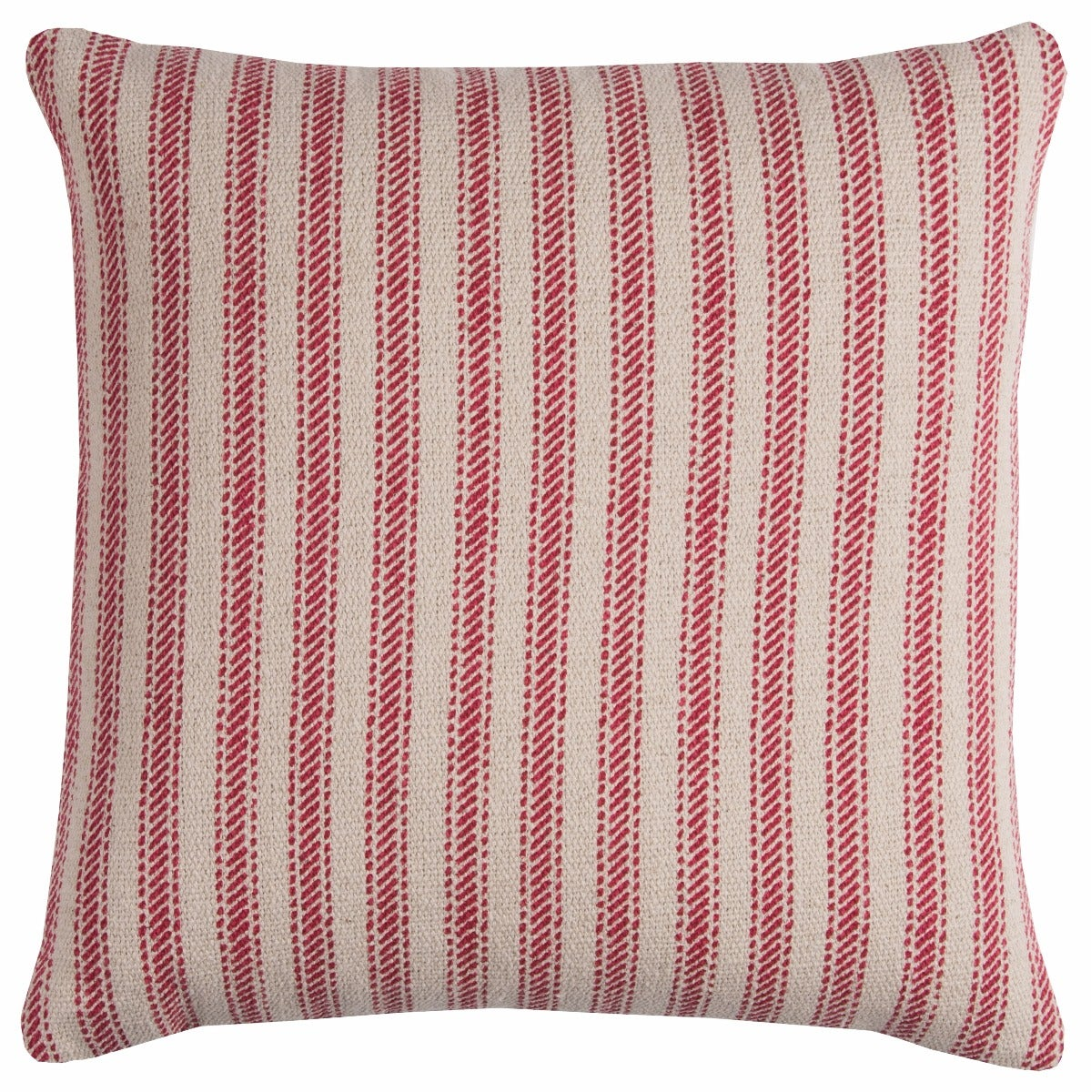 Red Linen Stripe Pillow