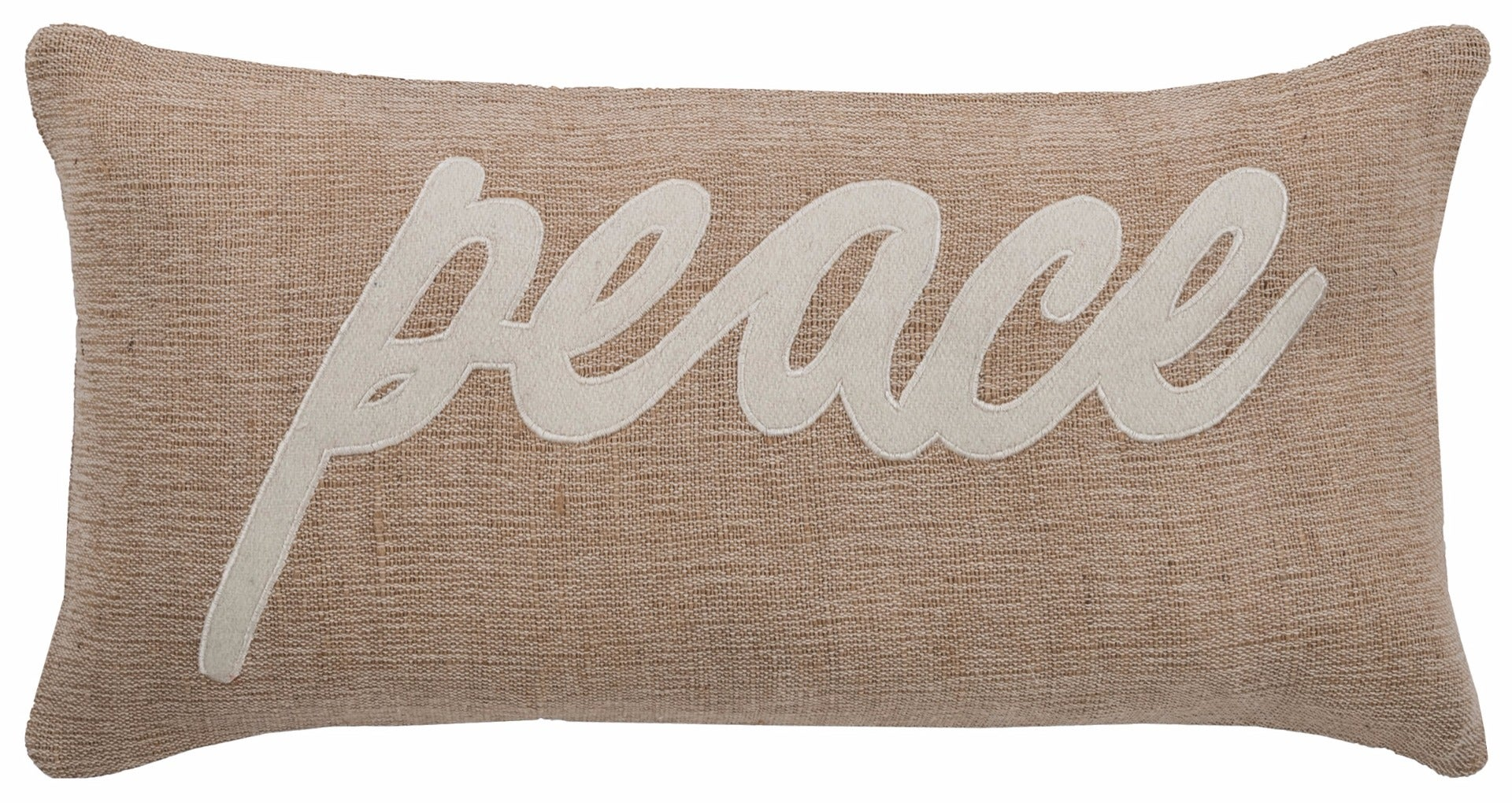 Peace Linen Lumber Pillow