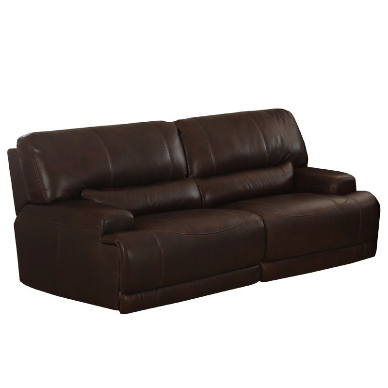 Quincy Brown Top Grain Leather Power Reclining Sofa