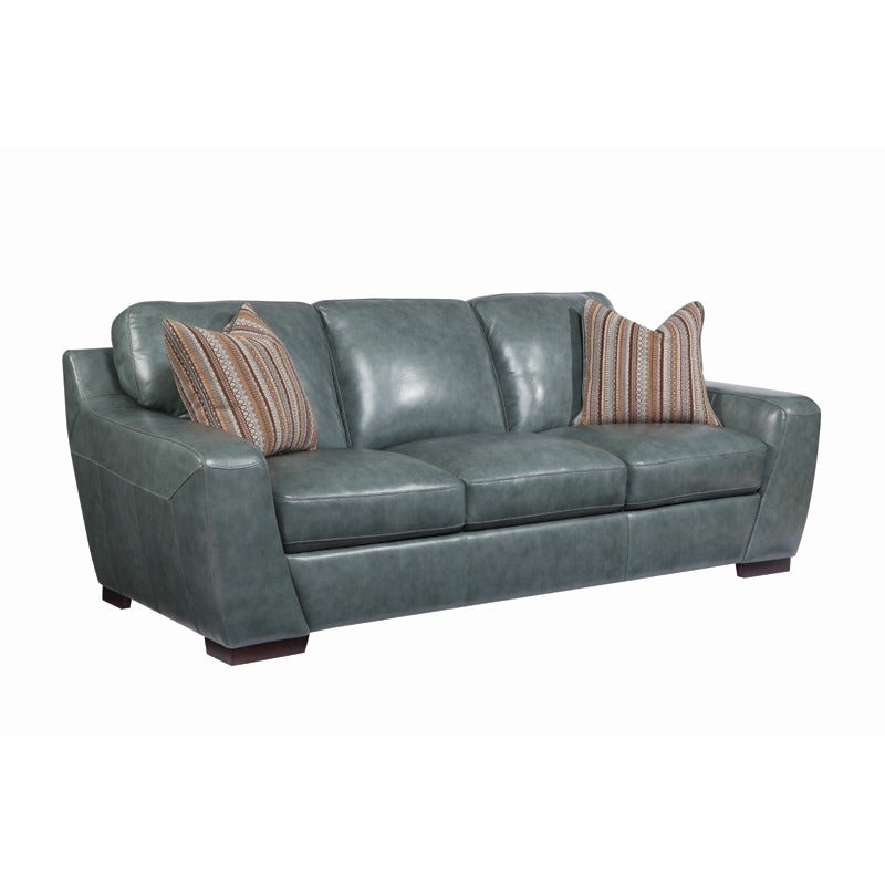 Simon Li London Silver All Leather Sofa | Weekends Only Furniture and Mattress