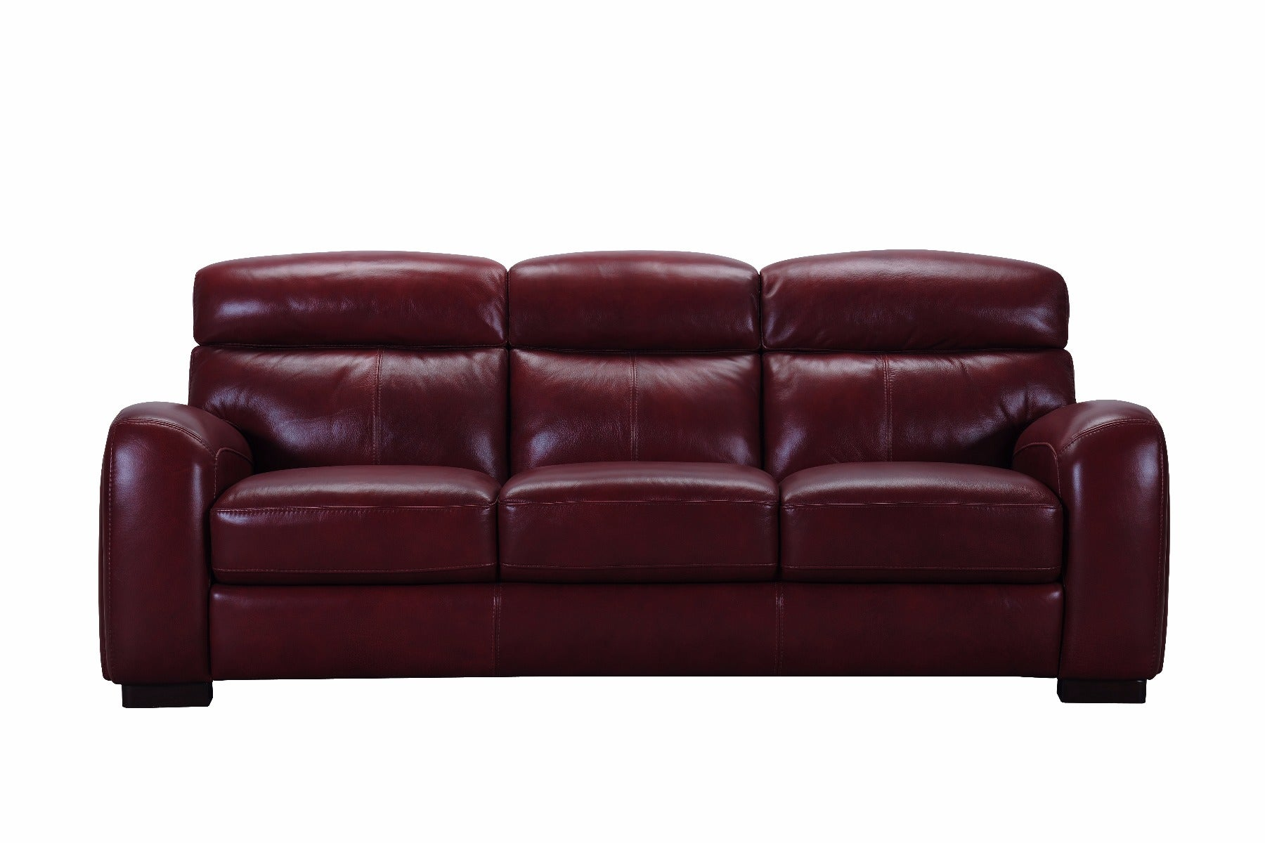 Violino Wilhelm Classico Red Leather Sofa