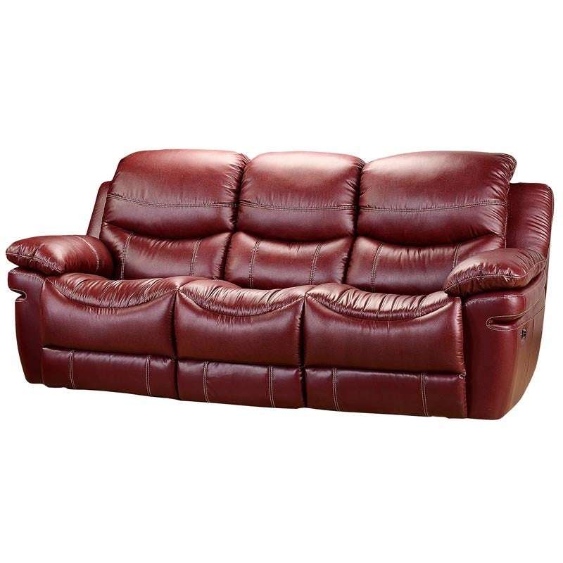 Sienna Leather Reclining Sofa | Weekends Only Furniture and Mattress