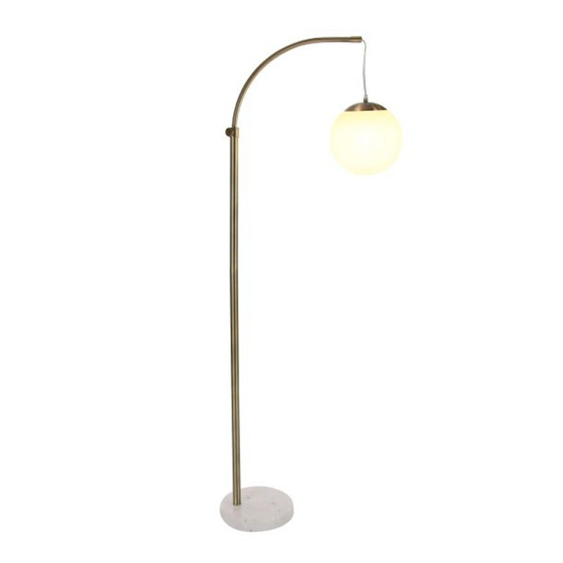 Gold Marble Globe Floor Lamp | Weekends Only Furniture and Mattress