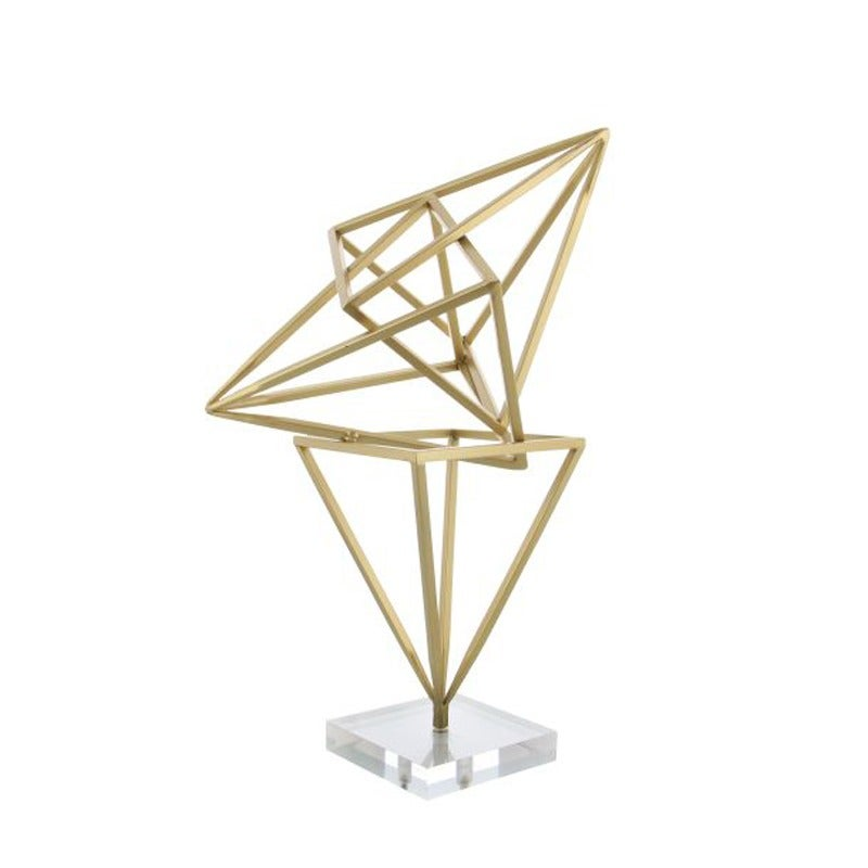 Gold Metal Abstract Sculpture | Weekends Only Furniture and Mattress