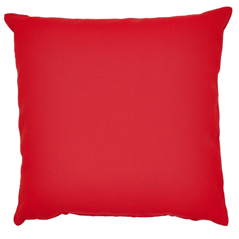 Solid Red Indoor/Outdoor Pillow | Weekends Only Furniture and Mattress
