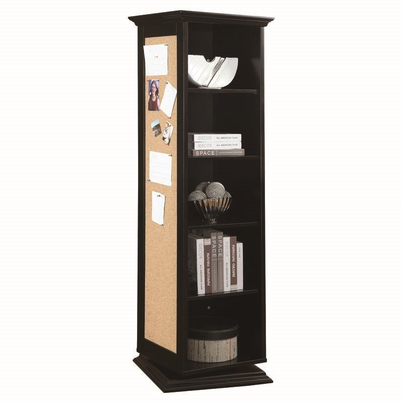 Brianna Black Storage Cabinet with Bulletin Board | Weekends Only Furniture and Mattress