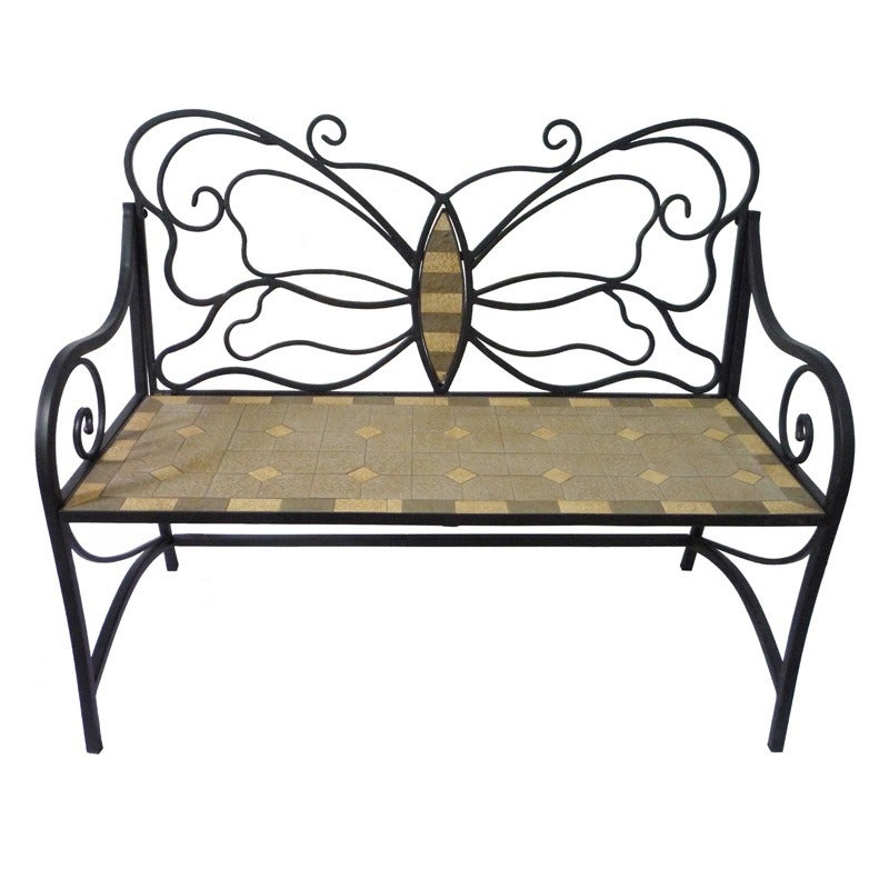 Butterfly Mosaic Bench | Weekends Only Furniture and Mattress