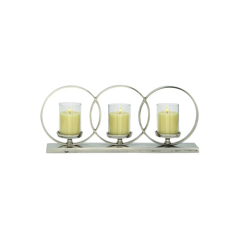 Aluminum Glass Candle Holder | Weekends Only Furniture and Mattress