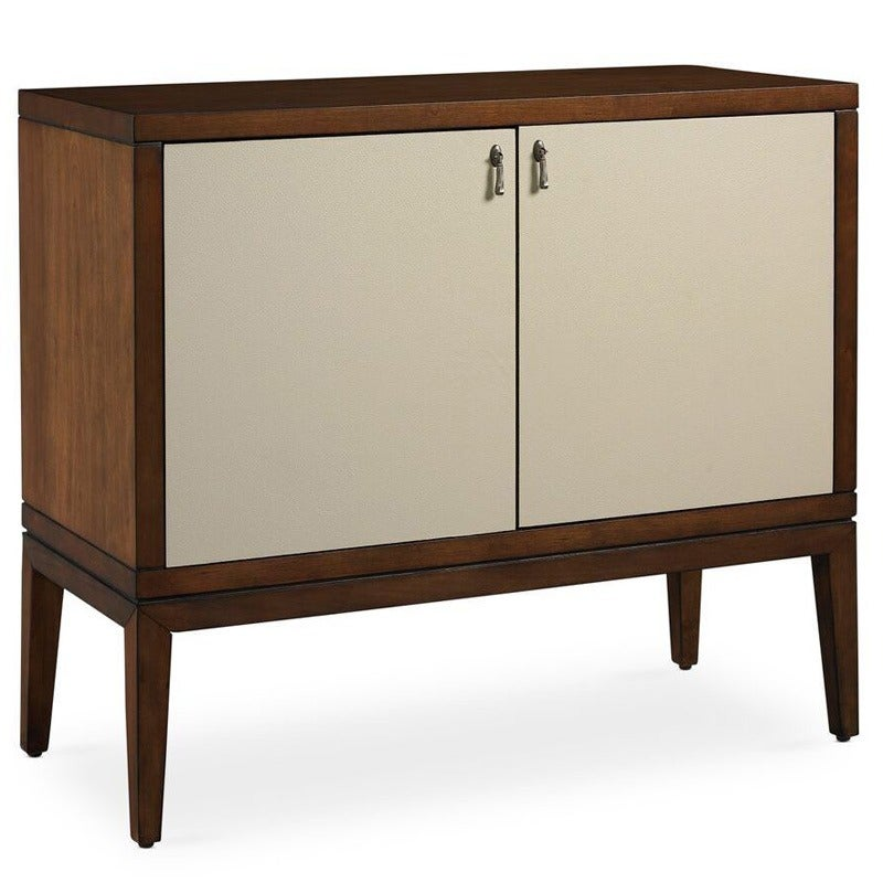 Somerton Claire Cherry and Cream Leather Accent Chest | Weekends Only Furniture and Mattress