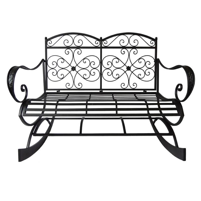 Daphne Metal Rocking Bench | Weekends Only Furniture and Mattress