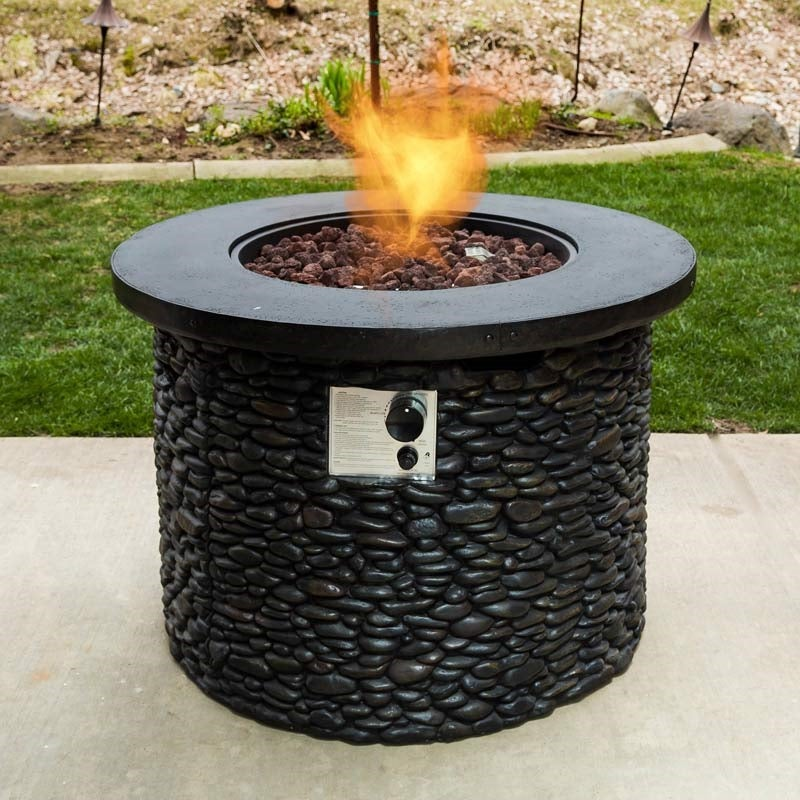 Stack Stone Propane Fire Pit | Weekends Only Furniture and Mattress