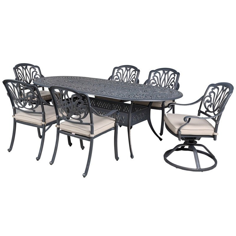 Geneva Oval Table and 6 Chairs | Weekends Only Furniture and Mattress