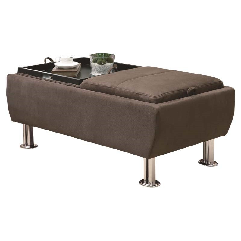 King Henry Storage Ottoman with Space for Tray Placement