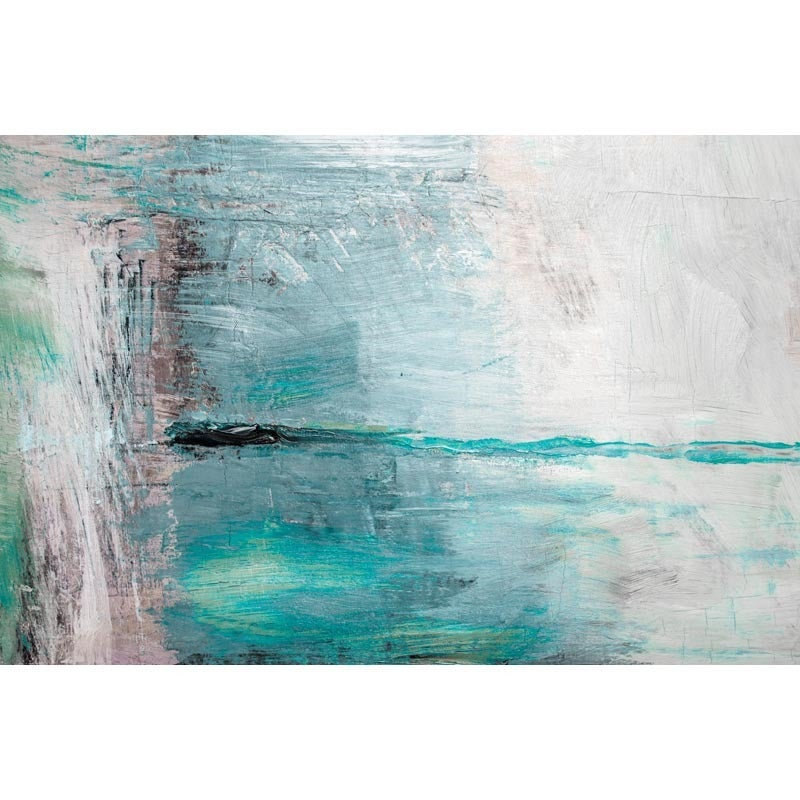 Teal Moments Abstract 36x48 Canvas