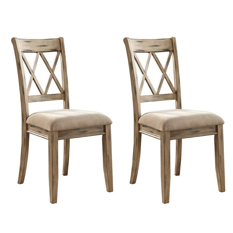 Ashley Mestler Distressed Ivory Set of 2 Dining Chairs | Weekends Only Furniture and Mattress