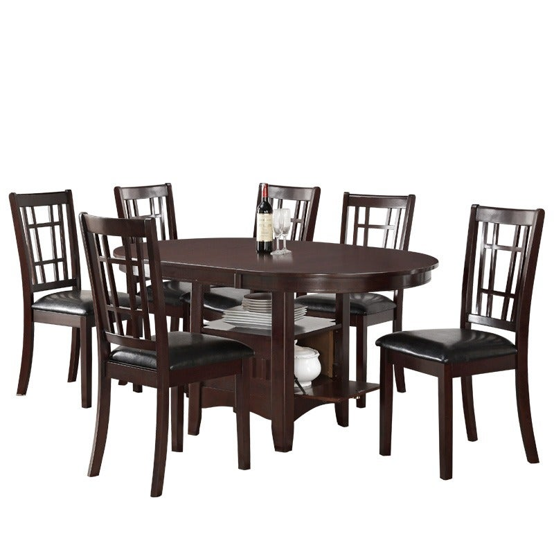 Mission 7 Piece Dining Set with Storage Table