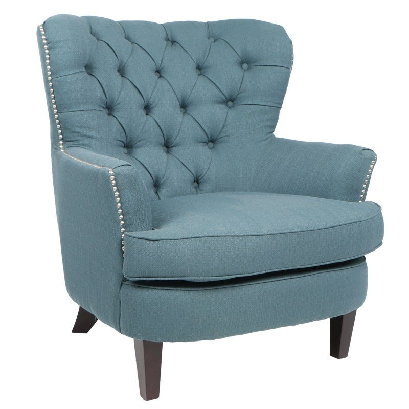 Claire Tufted Teal Chair