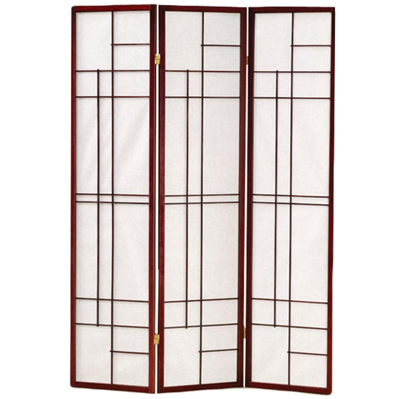 Essentials Mid-Century Modern 3 Panel Folding Screen | Weekends Only Furniture and Mattress