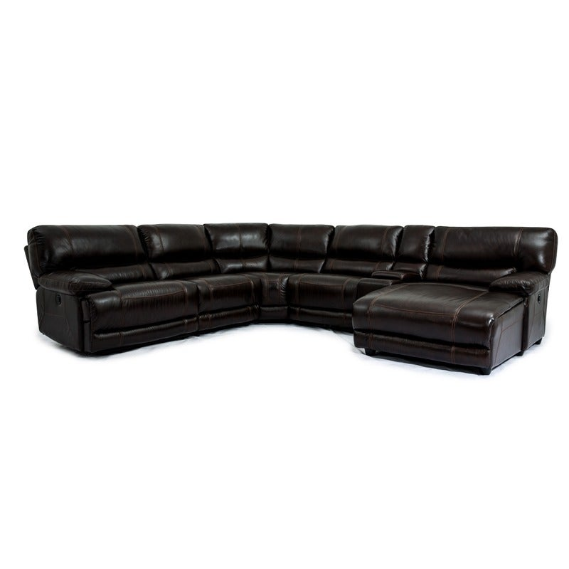 Lucas Leather Power Sectional   Weekends Only Furniture and Mattress