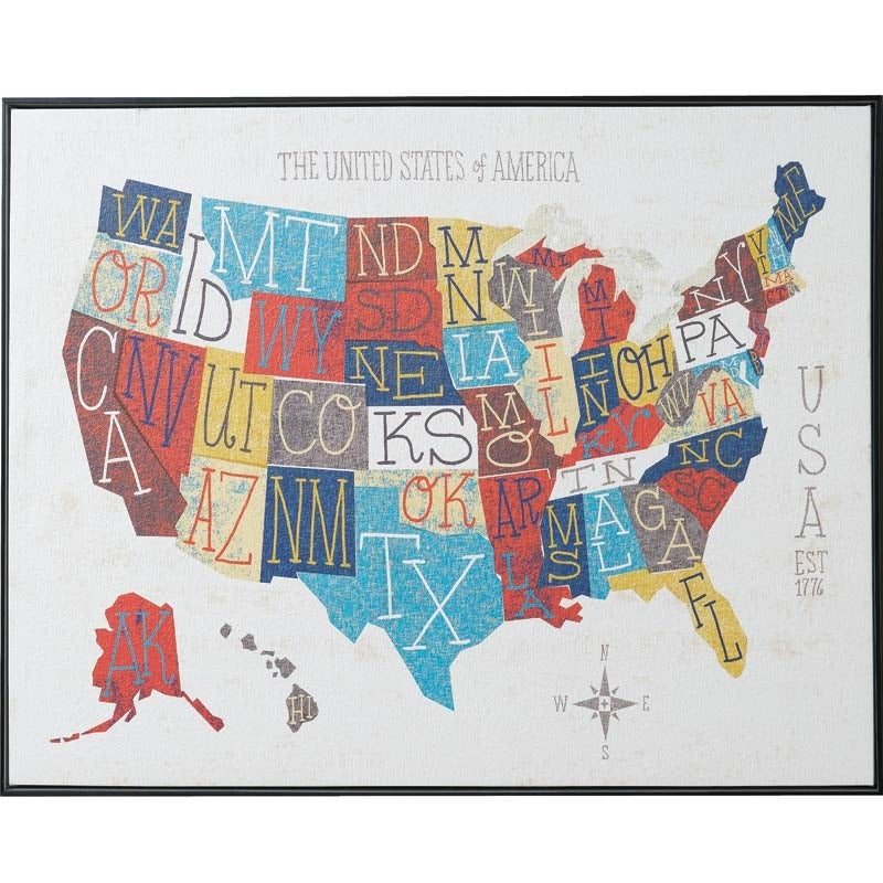 UMA 50 States Framed Art | Weekends Only Furniture and Mattress