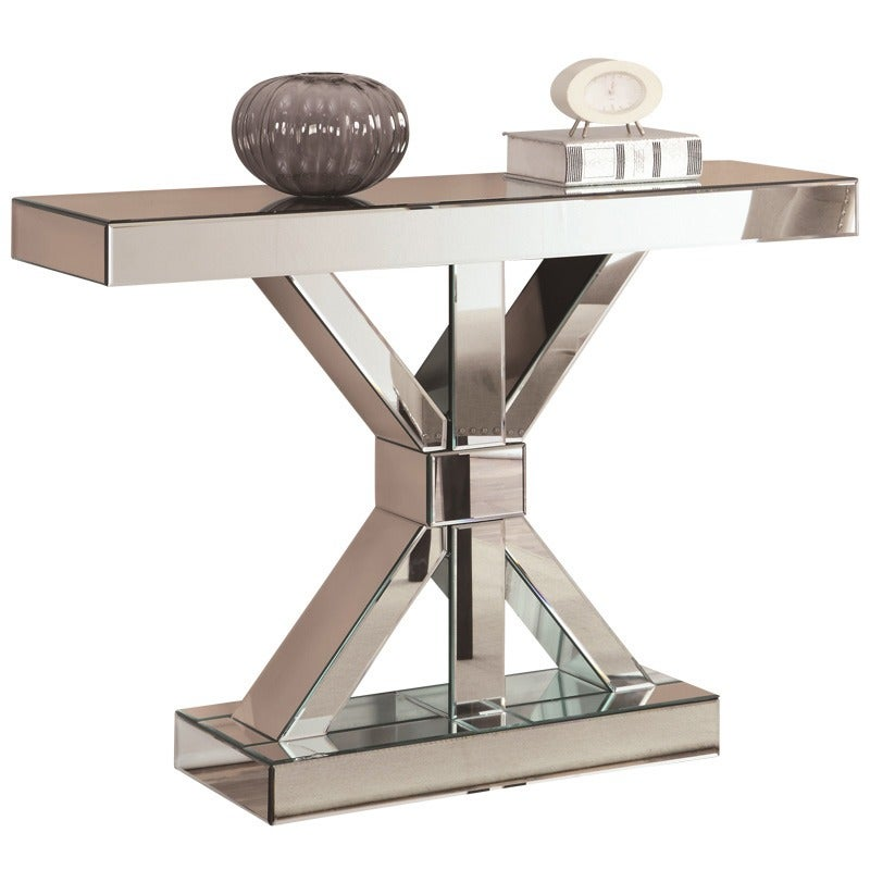Clutch Mirrored Console   Weekends Only Furniture and Mattress