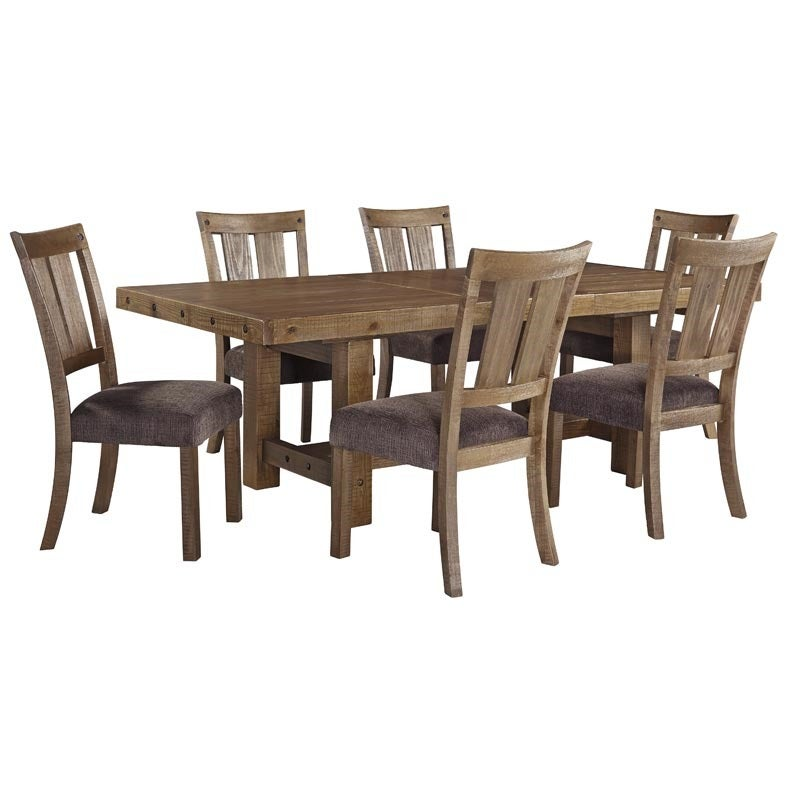 Ashley Tamilo 7 Piece Rustic Distressed Dining Set