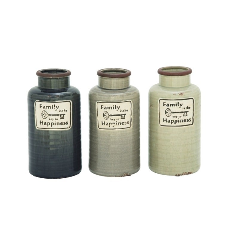 """UMA Ceramic Family Jar 6""""W X 12"""" 