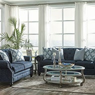 Blue Sofas and Loveseats